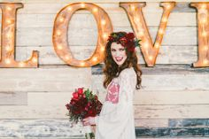 """Spicy LOVE"" Red Pepper inspired bridal wedding shoot by Stephanie Rose Photography. Just look at the lovely face by Tracy Melton Artistry and her gorgeous pepper head piece from RLove Floral Design. At Hickory Street Annex in Dallas."