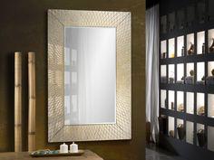 Material: Glass, MDF Finish: Silver mirror,gold leaf, black