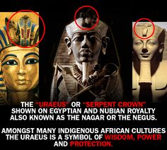 The Uraeus is a Symbol of Royalty, Power, Wisdom and Protection
