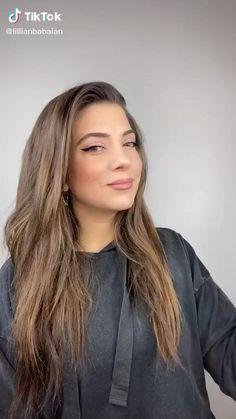Funky Hairstyles For Long Hair, Teen Girl Hairstyles, Work Hairstyles, Long Hair Cuts, Straight Hairstyles, Hairstyles For Round Faces, Wedding Hairstyles, Brunette Hair With Highlights, Brown Blonde Hair