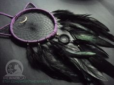 Luna's Dream Catcher #2 (Now Available on Etsy) by TheInnerCat on DeviantArt