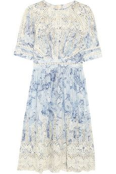 Confetti embroidered floral-print cotton dress by: Zimmermann @Net-a-Porter (US)