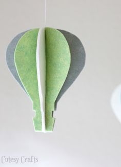 Felt Hot Air Balloon Decoration These look easier to make but still cute!