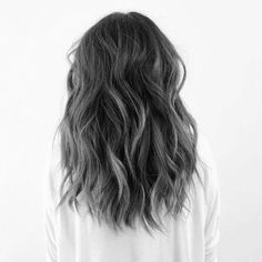 hair highlights black Grey hairstyle on We Heart It Hair styles, Hair, Dyed hai Silver Ombre Hair, Dyed Hair Ombre, Dyed Hair Purple, Ombre Hair Color, Black And Silver Hair, Balayage Hair Grey, Black And Grey Hair, Ash Grey Hair, Dyed Hair Brown