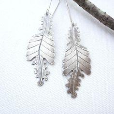 Silver Oak Leaves Earrings