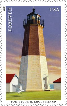 Point Judith lighthouse stamp