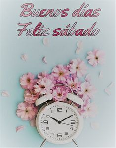 Cool Pictures Of Nature, Good Morning Gif, Wisdom Quotes, Special Day, Clock, Spanish, Messages, Saturday Greetings, Good Day Quotes