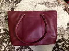 Large Burgundy leather laptop bag with 15 in laptop sleeve