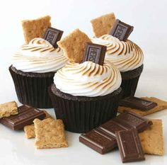 16. S'mores Cupcakes | 19 S'mores Recipes That Will Change Your Life