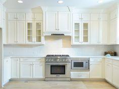 Kabinart Cabinets. Hampton Door Style Painted Starlite.