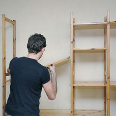 Need more storage space? Learn how to make your own shelves with this great tip! Diy Shelving, Shelves, Make Your Own, Make It Yourself, Storage Spaces, Woodworking, Hardware, Learning, Projects