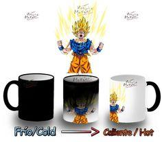 Taza Magica Dragon Ball Super Saiyan Goku Mug Heat Reactive Tazza Tasse Magic - Bekiro