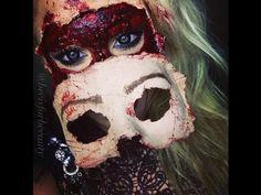 """Pin for Later: Keine Zeit oder Geld für ein Kostüm? 10 schaurig-schöne Halloween Makeup Ideen Halloween Makeup-Tutorial für eine gruselige Maske Makeup-Tutorial für eine gruselige Maske von """"beeisforbeeauty"""""""