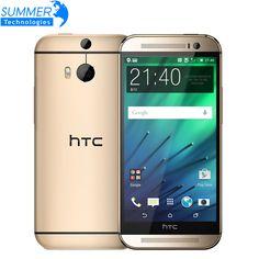 Original unlocked htc one m8 điện thoại di động 5 ''quad core 16 gb 32 gb rom wcdma 4 gam lte 2 máy ảnh điện thoại thông minh