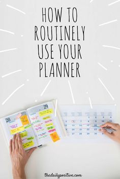 Stop buying planners and then forgetting to use them. Check out these tips and tricks for making the most use out of your daily planner.