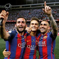 🔝📸😆 @av22oficial @denissuarezfernandez @paco93alcacer  #Football #IgersFCB #FCBarcelona