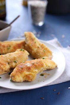 Filets de lapin panés, sauce miel et porto blanc