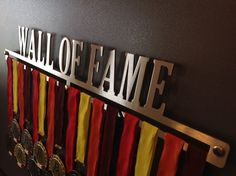 WALL OF FAME  Running Medal Display Running Medal by MEDALdisplay