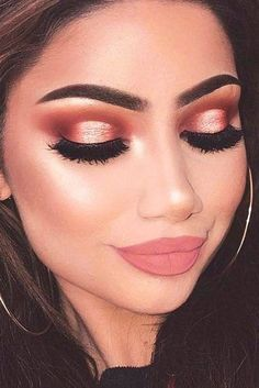 Top Rose Gold Makeup Ideas To Look Like A Goddess ★ See more: http://glaminati.com/charming-rose-gold-makeup-looks/ #makeupideasgold