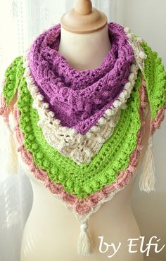 Pestrofarebná šatka z bambusovej priadze Crochet Necklace, Accessories, Jewelry, Fashion, Moda, Crochet Collar, Jewels, Fashion Styles, Schmuck