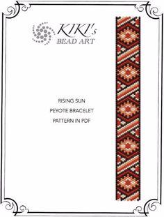 Pattern peyote bracelet Rising sun peyote por KikisBeadArts