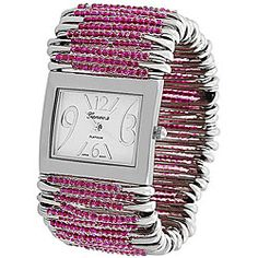 @Overstock - This unique and stylish watch features beaded safety pins on a stretch band.http://www.overstock.com/Jewelry-Watches/Geneva-Womens-Platinum-Safety-Pin-Stretch-Watch/5535665/product.html?CID=214117 $18.49
