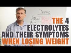 The 4 Electrolytes and their Symptoms When Losing Weight Die 4 Elektrolyte und ihre Symptome beim Abnehmen Dr Eric Berg, Dr Berg, How To Lose Weight Fast, Losing Weight, Weight Loss, Body Type Quiz, 2 Week Diet, Health Cleanse, Diets