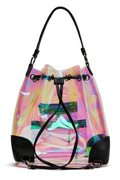 So Psyched Backpack - Bags + Backpacks Backpack Bags, Drawstring Backpack, Top Casual, Luxury Purses, Chanel, Clear Bags, Fabric Bags, Cool Backpacks, Looks Cool