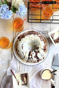 Resep Puding Roti Tawar Marmer Dengan Vla Vanila Puding Roti Rotis Makanan