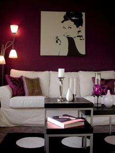 I like the idea of an Audry Hepburn cameo in the room... plus I love the pillows and wall color.