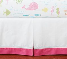 After months of searching for the right fitted sheets baby girls underwater/mermaid nursery, I'll be expecting two of these in the mail next week! Pottery Barn Kids Key West Nursery Bedding! YAY!