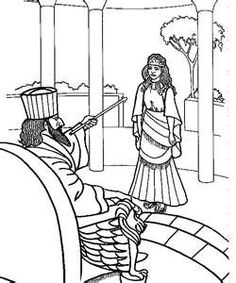 Esther bible coloring pages ~ An LDS Primary coloring page from lds.org. Queen Esther ...