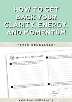 Get back into the driver's seat with this free printable.