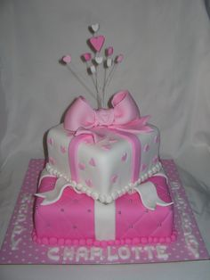 Pretty Birthday Cakes | this cake was chosen for miss charlotte who turned 1 it s made of two ...