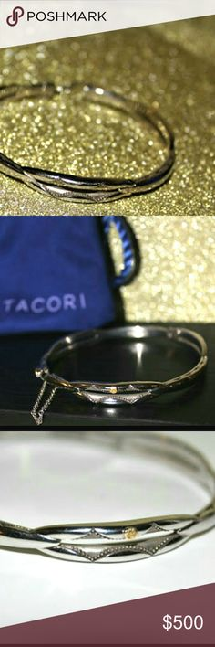 "Tacori ""The Promise Collection"" Bracelet 18K Yellow Gold/Sterling silver  Clasp Type: Key Lock ATTENTON: I misplaced the key to the bracelet - Tacori Jewelry Bracelets"