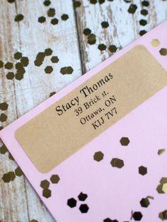 Serif traditional brown kraft sticker return by ctdscraftsupply