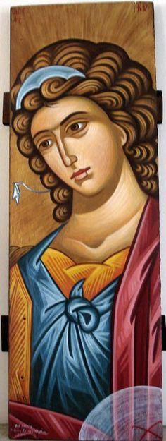 εργαστήριο αγιογραφιας/μαρια χατζηβασιλειου | Εργαστήριο Βυζαντινής Αγιογραφίας | Icon-Art αγιογραφίες Byzantine Icons, Byzantine Art, Religious Icons, Religious Art, Paint Icon, Angel Warrior, Orthodox Icons, Angel Art, I Icon