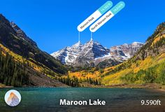 This striking nature-themed wall mural features Maroon Bells, White River National Forest in Colorado. Visit Colorado, Colorado Hiking, Colorado Mountains, Aspen Colorado, Rocky Mountain National Park, National Forest, Murals Your Way, Crested Butte, Best Vacations