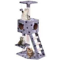 Us 5537 Goplus Pet Cat Tree Play House Tower Condo Bed Scratch Post Kitten Pet House Tower Wood Cat Climbing Frame In Bird Feeding From Home Cat Lover Gifts, Pet Gifts, Cat Lovers, Cat Tree Condo, Cat Condo, Cat Climbing Tree, Condo Furniture, Wooden Furniture, Furniture Ideas
