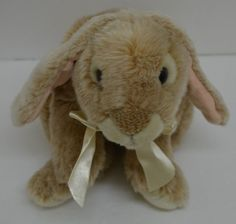 """Animal Alley Lop Eared Bunny Rabbit Plush Bow Realistic Bean Bag Heavy 13"""" #AnimalAlley http://stores.ebay.com/Lost-Loves-Toy-Chest/_i.html?image2.x=0&image2.y=0&_nkw=animal+alley"""