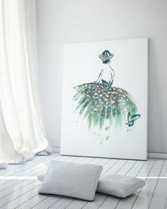 Turquoise Dress - Art Poster
