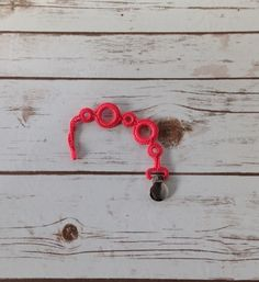 Bright Coral Pacifier Clip Girl Pacifier Clip by MariaSunshine