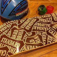 SD Made In USA Shield Logo Skate Deck.  #standardcalifornia #スタンダードカリフォルニア #skate #deck #madeinusa
