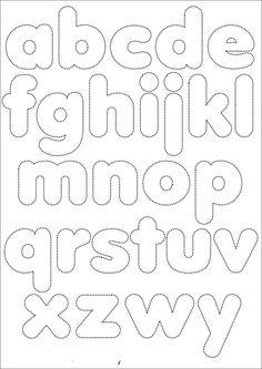 Pattern: Alphabet for felt or fabric (in buru suitcase) Alphabet Templates, Felt Templates, Alphabet Stencils, Felt Letters, Alphabet And Numbers, Bubble Letters Alphabet, Busy Book, Applique Patterns, Felt Crafts