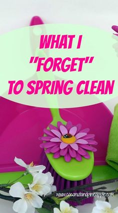 We all know it's time for spring cleaning. These are the things that I seem to avoid the most!