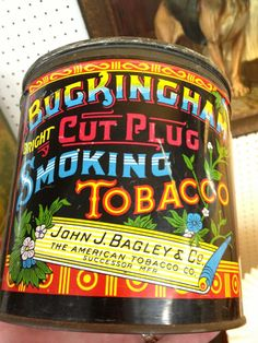 """Buckingham"" Cut Plug Tobacco tin Can"