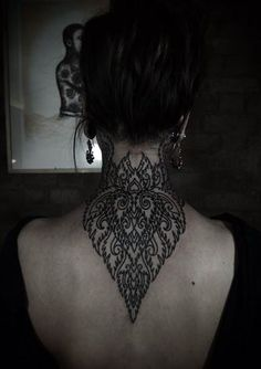Awesome Back of Neck Tattoo - Tattoo Shortlist