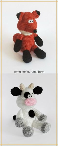 Cute crochet animals, amigurumi animals | Crocheted Critters and ...