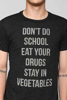Don't Do School Tee - Urban Outfitters. $28.00. #fashion #men #graphic tee