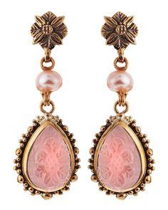 Stephen Dweck Carved Rock Crystal Earrings